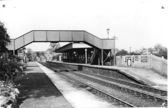A postwar view, 1948, looking every bit the idyllic country branch line station. The station gardens on platform 2 were always immaculately kept and frequently won 'best kept station' prizes.